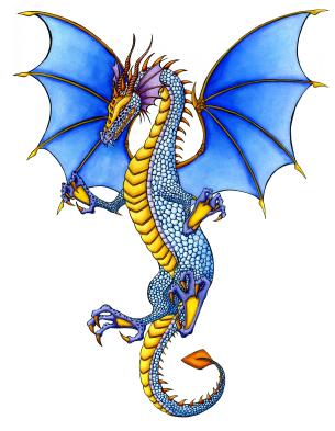 305x393 Fire Breathing Dragon Tattoo