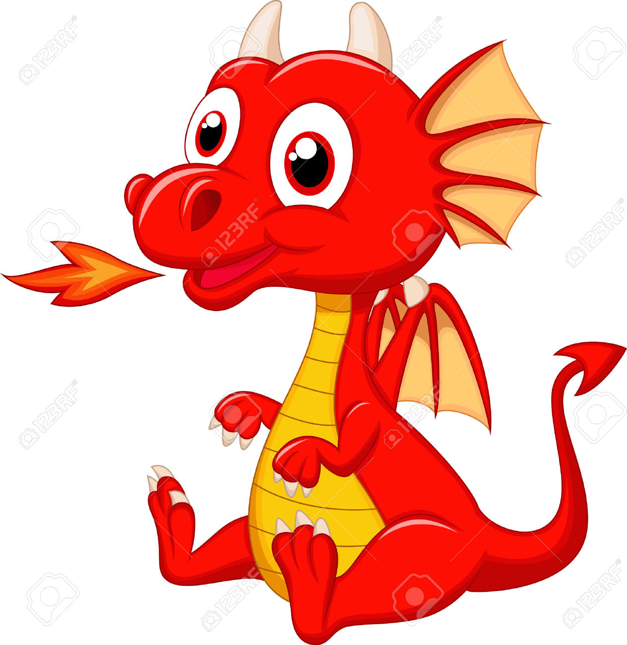 1264x1300 Red Dragon Clipart