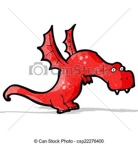 450x470 Cartoon Fire Breathing Dragon Vector Clipart