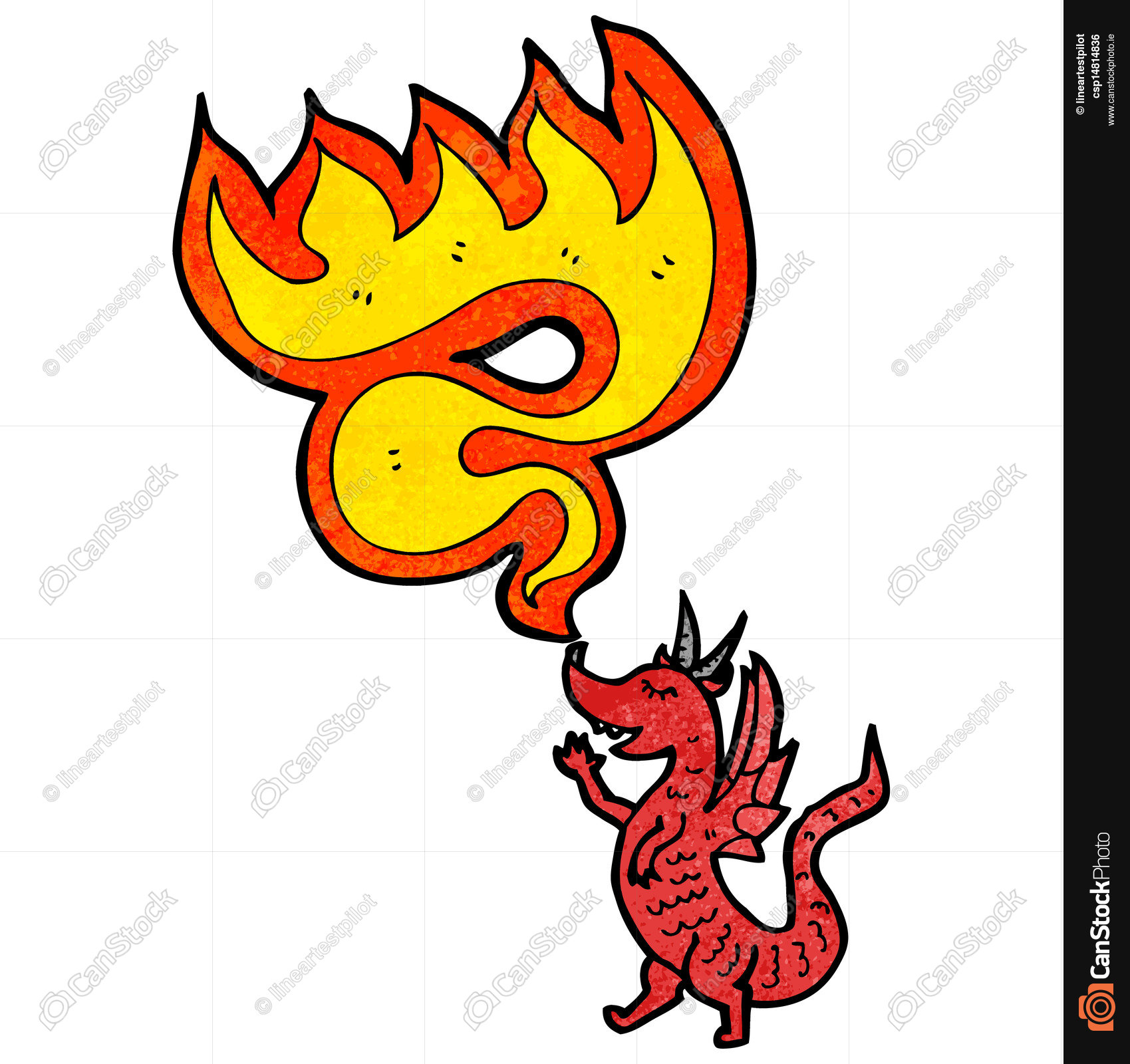 1699x1600 Cartoon Fire Breathing Dragon Vectors