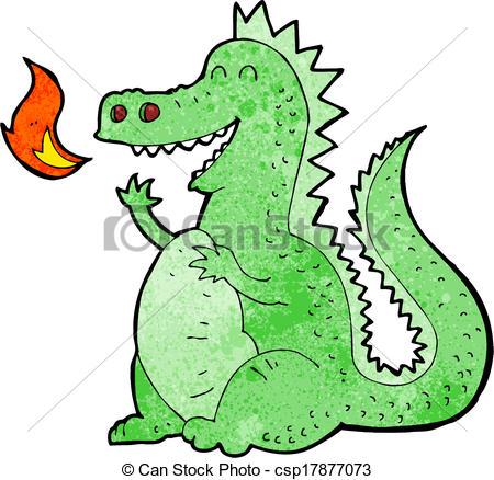 450x438 Cartoon Fire Breathing Dragon Vectors Illustration