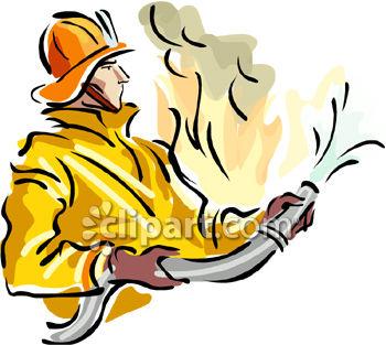 350x313 Fire Fighters Clip Art