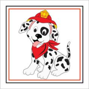 300x300 Dalmation Fire Dog By Hydrant Clipart Free Images