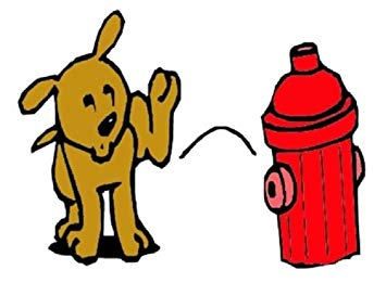355x261 Doggie Fire Hydrant Scented Training Pee Dog Post Resin 10x4