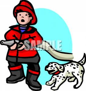 283x300 A Firefighter And A Dalmation