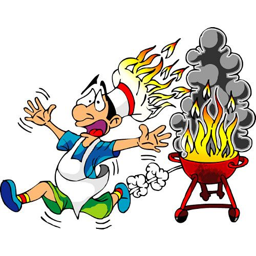 500x500 Bbq Cartoon Funny Barbecue Clipart Labor Day Weekend Free