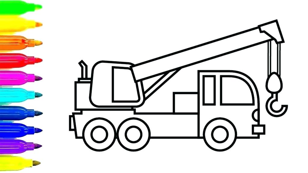 1024x576 Coloring Pages Trucks Truck Colouring Fire