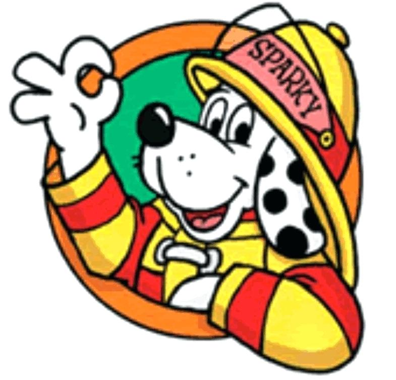 785x753 Sparky The Fire Dog Coloring Pages Safety Page