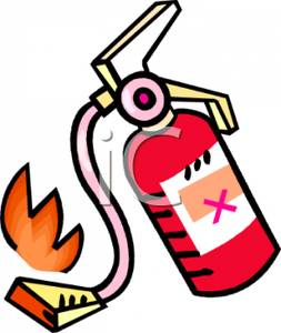253x300 A Small Flame And A Fire Extinguisher