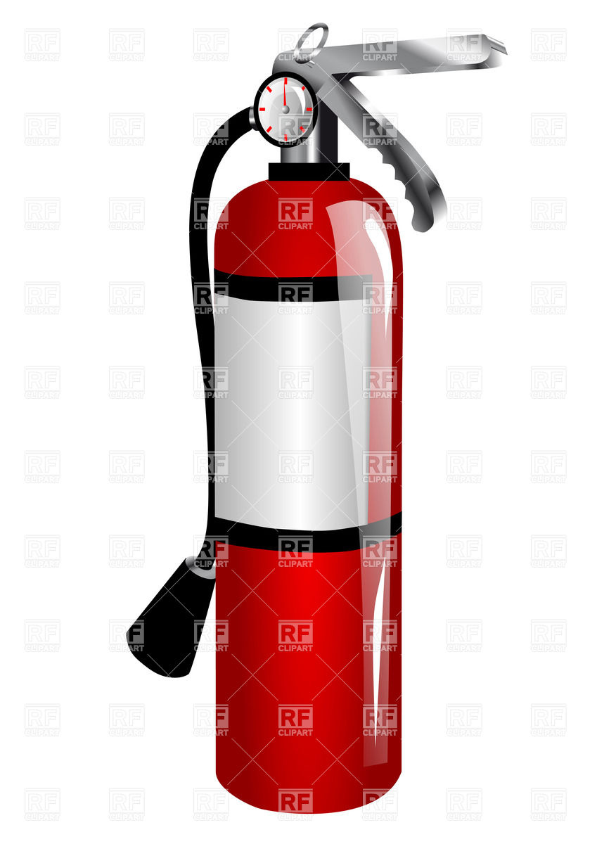 849x1200 Fire Extinguisher Royalty Free Vector Clip Art Image
