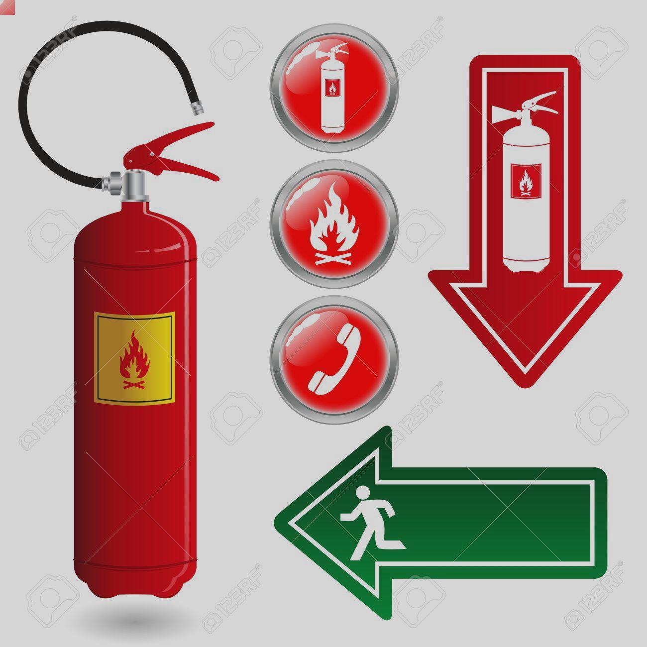 1300x1300 Clip Art 5 683 Fire Extinguisher Symbol Stock Illustrations