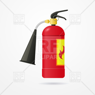 400x400 Fire Extinguisher Royalty Free Vector Clip Art Image