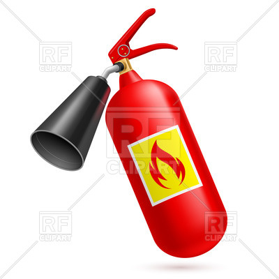 400x400 Fire Extinguisher Icon Royalty Free Vector Clip Art Image
