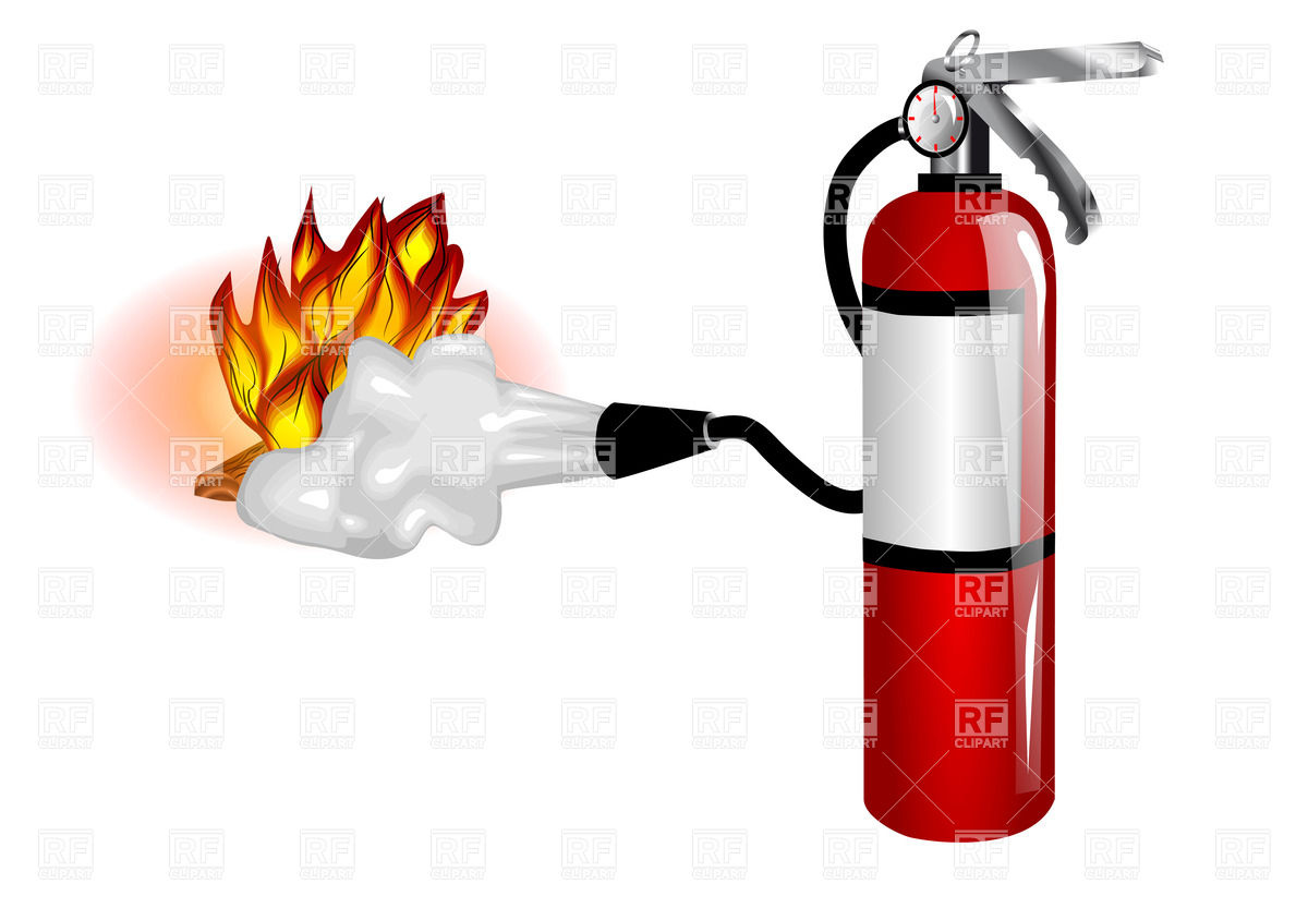 1200x844 Fire Extinguisher In Use Royalty Free Vector Clip Art Image