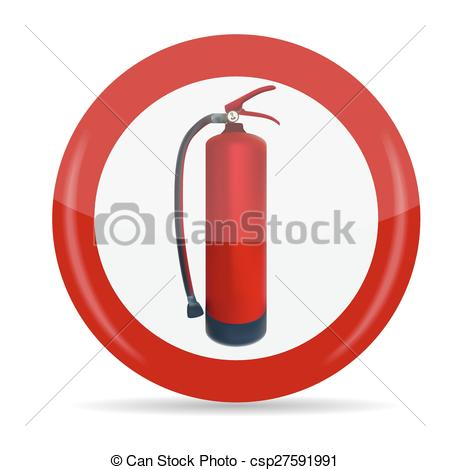 450x470 Fire Extinguisher Sign Vector Illustration. Isolated. Eps10 Eps