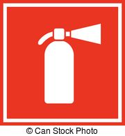 180x195 Fire Extinguisher Vector. Sign 3d Realistic Red Fire Eps