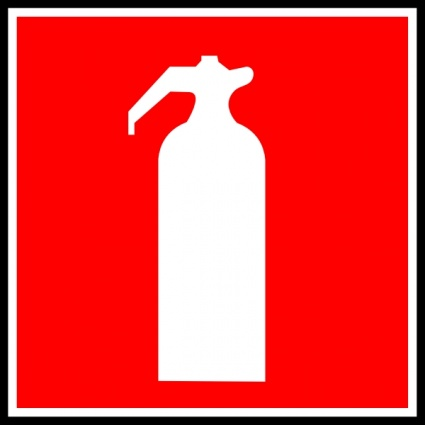 425x425 Free Download Of Fire Extinguisher Sign Clip Art Vector Graphic