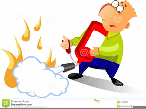 300x225 Clipart Of Man Using Fire Extinguisher Free Images