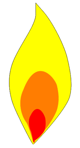 257x474 Clipart Candle Flame White Flame Outline Hi