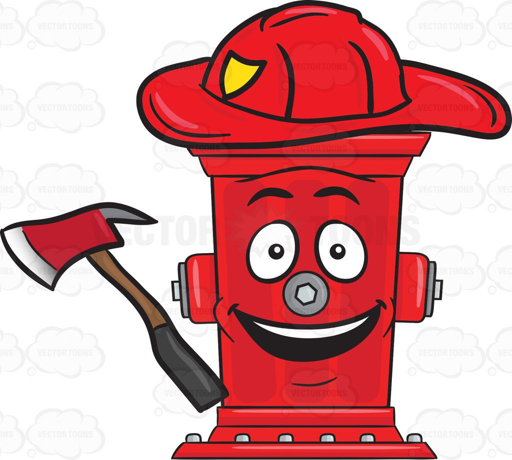 1024x921 Cheerful Looking Firefighter Hydrant With Axe Emoji Cartoon