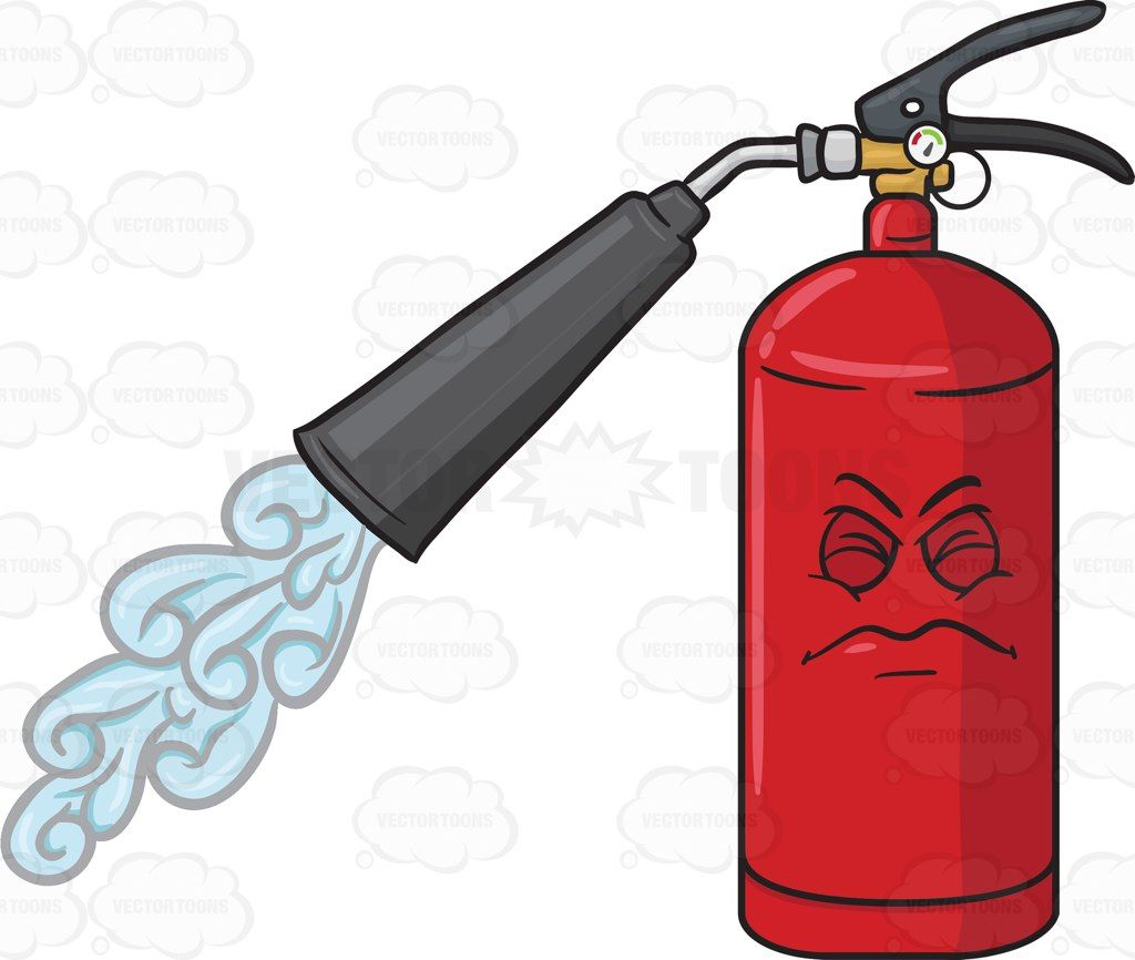 1024x866 Disgruntled And Startled Fire Extinguisher Spraying Emoji Fire