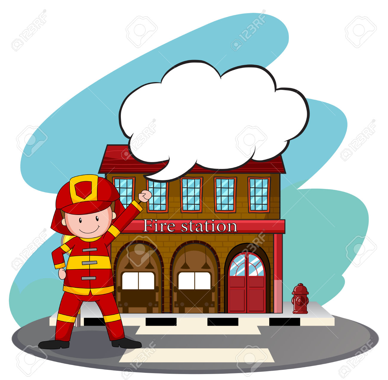 1300x1273 Firefighter Clipart Fire Station 3530386