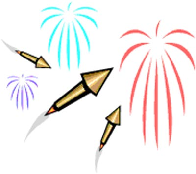 400x357 Fire Crackers Clipart