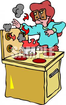 220x350 Kitchen Fire Clipart