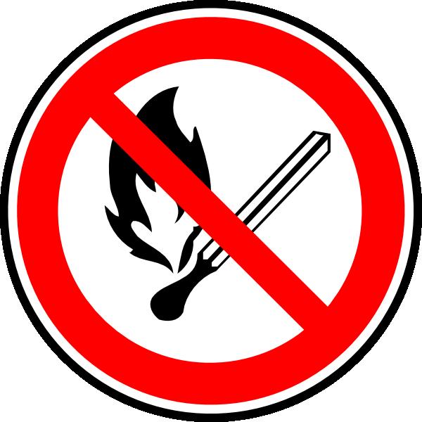 600x600 No Fire Or Flames Allowed Clip Art