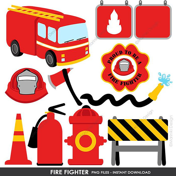 570x570 Fire Fighter Clipart Fire Truck Clip Art Rescue Graphics