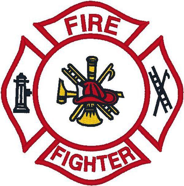 600x605 Firefighter Logo Clip Art