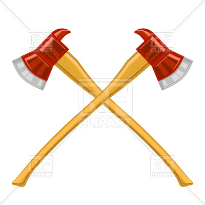 400x400 Firefighter Cross Axes On White Background Royalty Free Vector