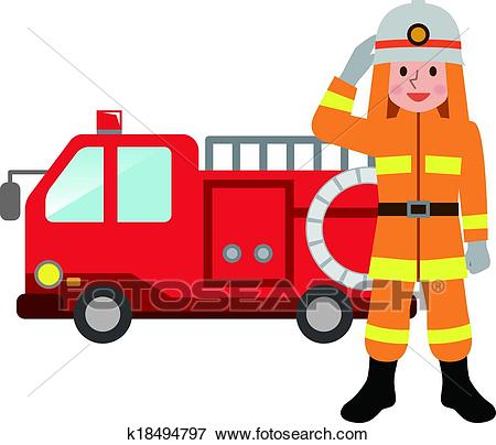 450x404 Fire Truck Clipart Clip Art Of Fire Truck And Firefighters