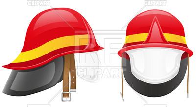 400x218 Firefighter's Helmet Royalty Free Vector Clip Art Image