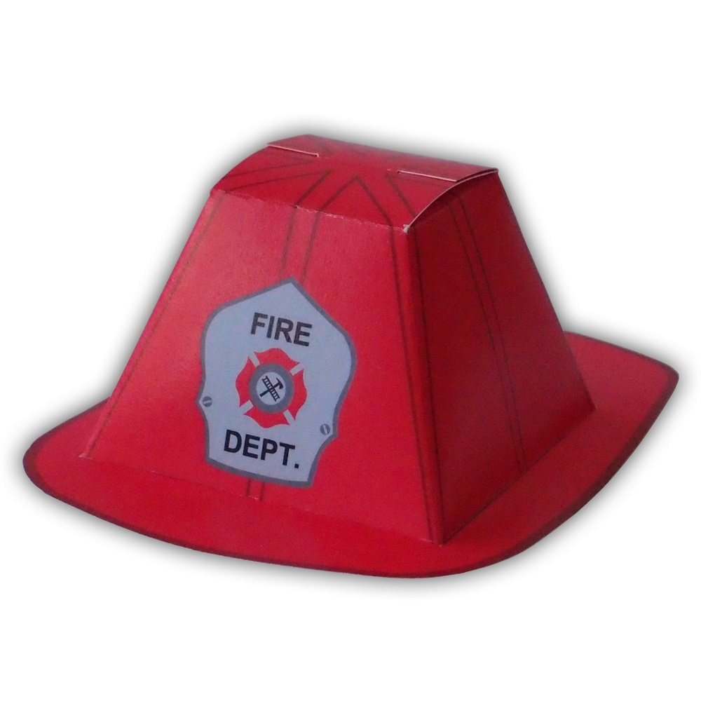 1000x1000 Firefighter Helmet Pdf Gift Box Favor Party Printable