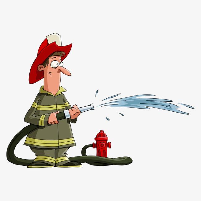 650x650 Vector Fireman, Vector Character, Character, Cartoon Characters