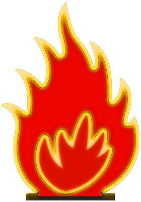 280x400 On Fire Clip Art
