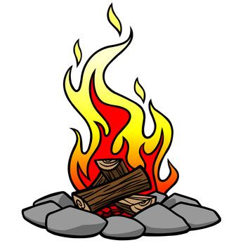 346x346 Clip Art Camp Fire Fireplace Clipart Bon Fire 3