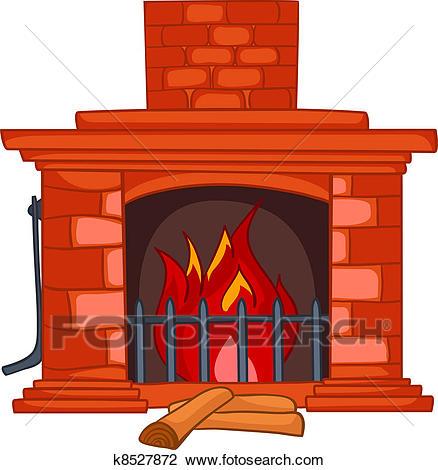 438x470 Fireplace Clipart Clipart Of Cartoon Home Fireplace K8527872