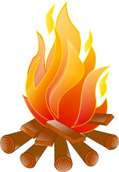 236x339 Around The Campfire Camp Fire Isolated On White Clipart