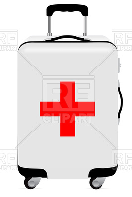 267x400 First Aid Suitcase Royalty Free Vector Clip Art Image
