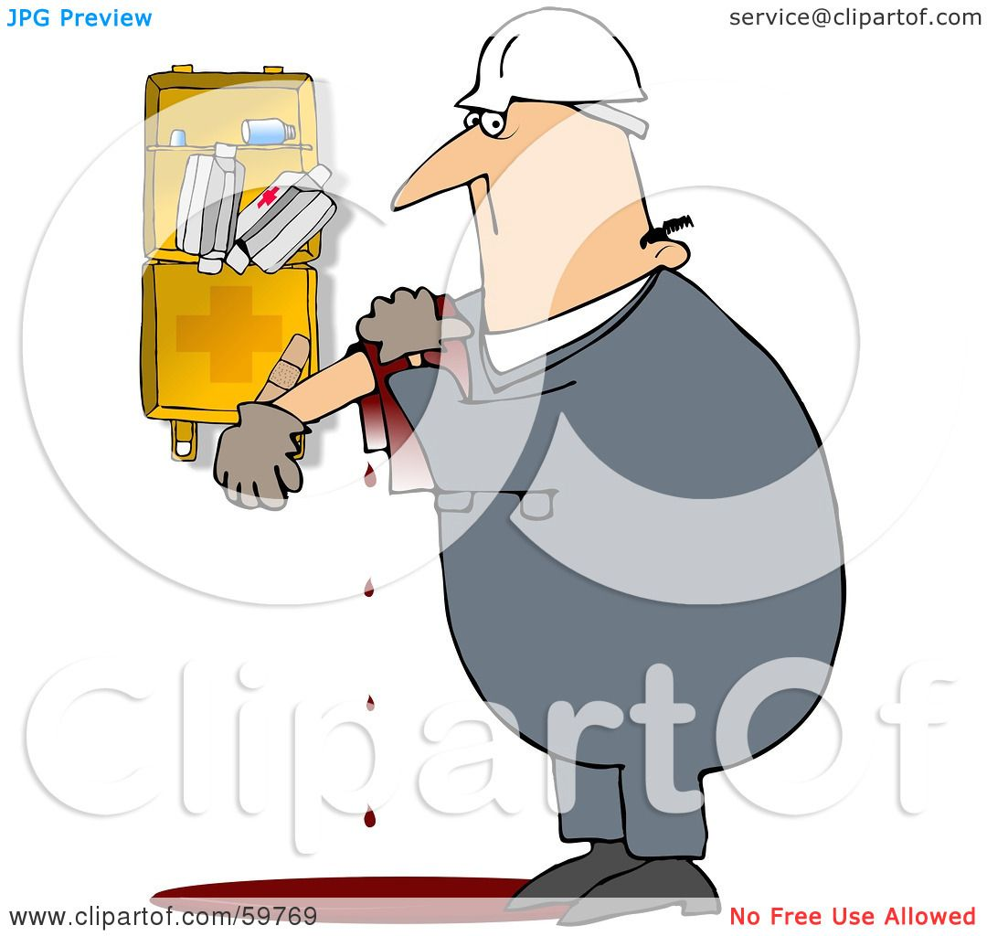 1080x1024 Royalty Free (Rf) Clipart Illustration Of An Injured Worker