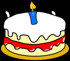 299x258 First Birthday Cake Clip Art