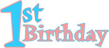 350x156 Images Of Myspace Baby,s First Birthday Clipart Happy First