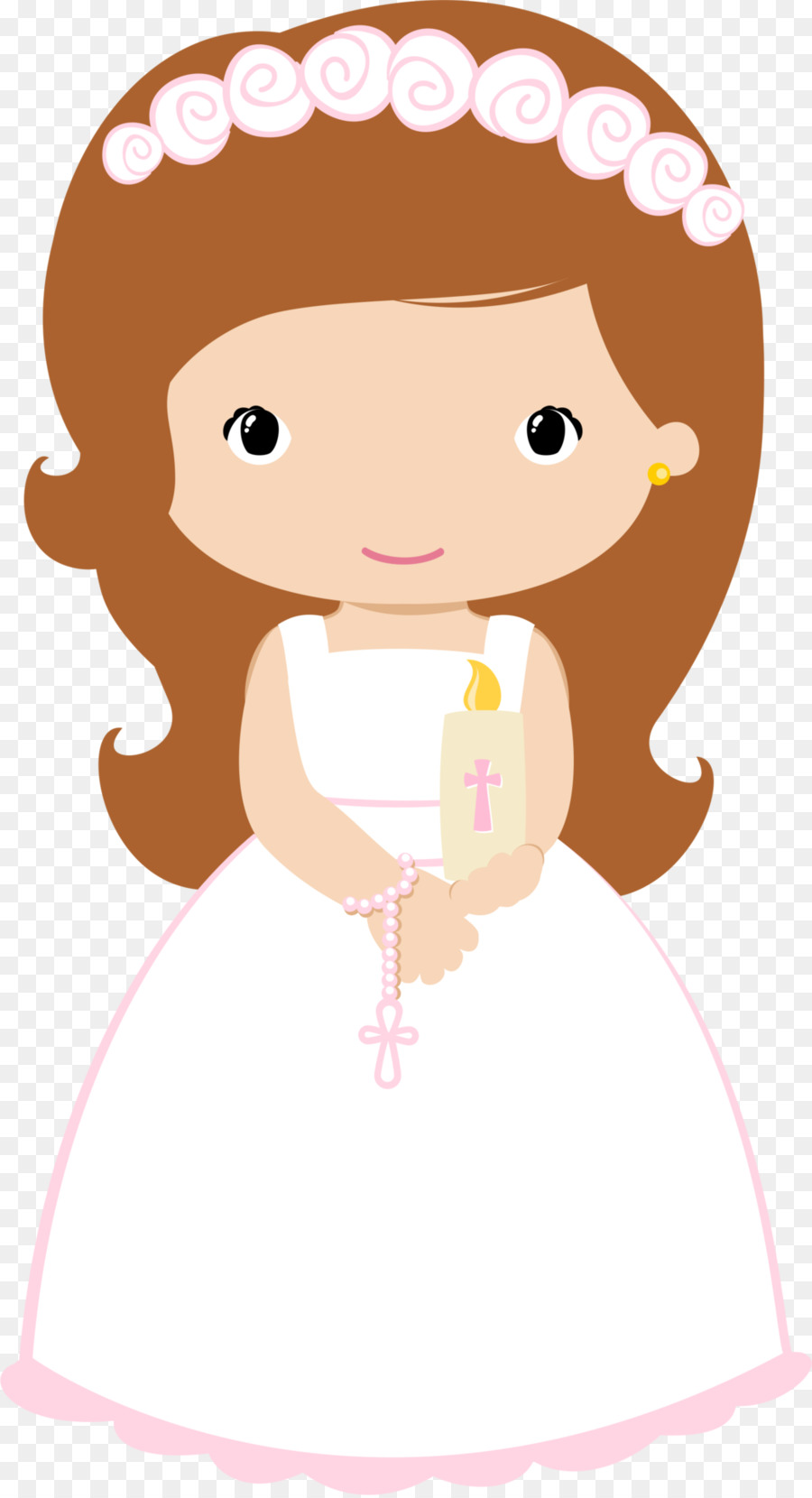 900x1660 First Communion Child Eucharist Baptism Clip Art