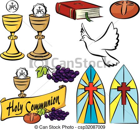 450x418 My First Holy Communion. Vector Set Of Holy Communion Vector