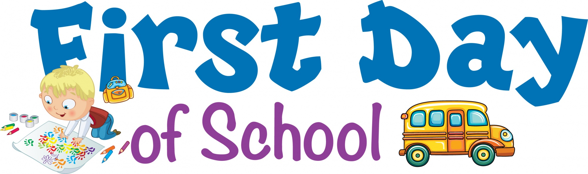 2000x595 Gallery First Day Of School Clip Art,