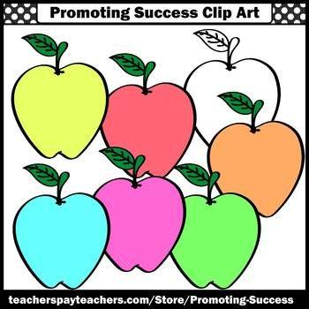 350x350 Pastel Colors Apple Clipart Commercial Use Images Sps Teacher