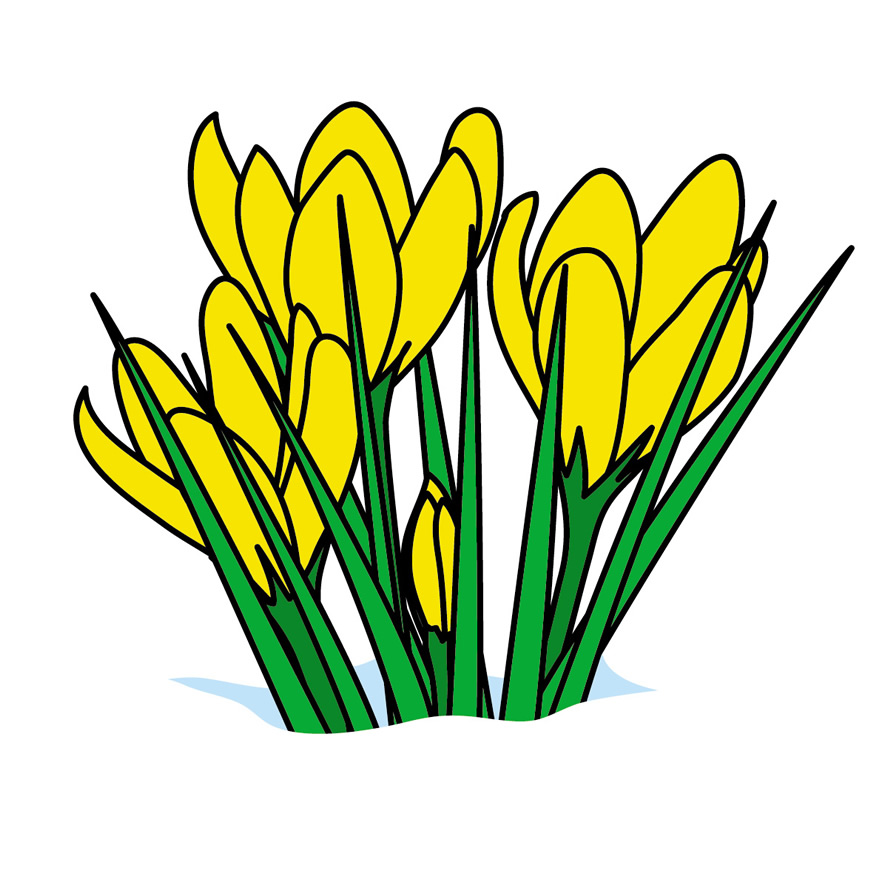 888x888 Clip Art First Day Of Spring Clip Art