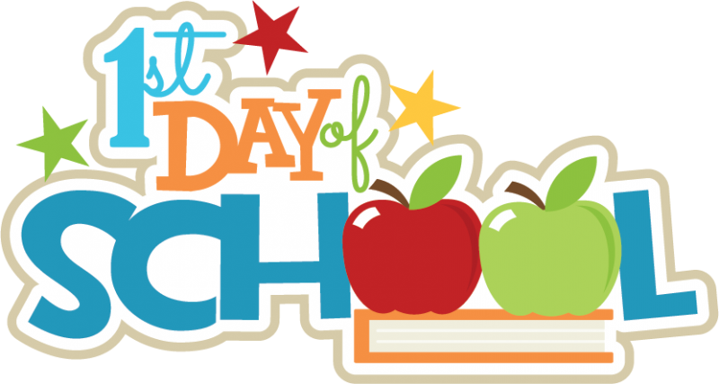 first day of kindergarten clipart at getdrawings com free for rh getdrawings com first day of school 2017 clipart happy first day of school clipart
